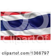Clipart Of A 3d Rippling Flag Of Thailand Royalty Free Illustration