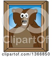 Clipart Of A Grizzly Bear School Mascot Character Portrait Royalty Free Vector Illustration by Toons4Biz
