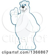 Clipart Of A Polar Bear School Mascot Character With An Idea Royalty Free Vector Illustration