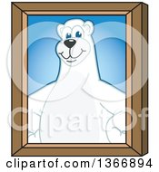 Clipart Of A Polar Bear School Mascot Character Portrait Royalty Free Vector Illustration by Toons4Biz