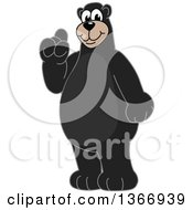 Clipart Of A Black Bear School Mascot Character With An Idea Royalty Free Vector Illustration by Toons4Biz