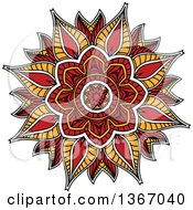 Clipart Of A Kaleidoscope Flower Royalty Free Vector Illustration