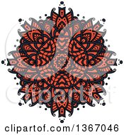 Clipart Of A Navy Blue And Salmon Pink Kaleidoscope Flower Royalty Free Vector Illustration