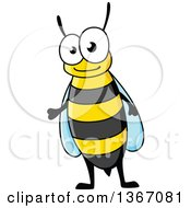 Clipart Of A Cartoon Bee Royalty Free Vector Illustration by Vector Tradition SM