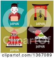 Clipart Of Japan Designs Royalty Free Vector Illustration