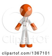 Clipart Of An Orange Man Doctor Or Veterinarian Royalty Free Illustration