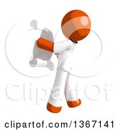 Clipart Of An Orange Man Doctor Or Veterinarian Reading A List Facing Left Royalty Free Illustration by Leo Blanchette