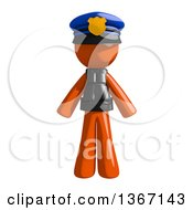 Clipart Of An Orange Man Police Officer Royalty Free Illustration