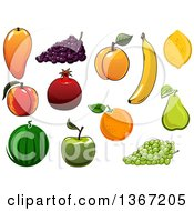 Clipart Of Fruits Royalty Free Vector Illustration by Vector Tradition SM