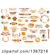 Clipart Of Bakery Designs Royalty Free Vector Illustration