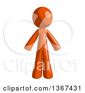 Clipart Of An Orange Man Royalty Free Illustration