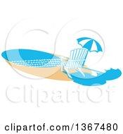 Chair And Umbrella On A Beach