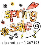 Clipart Of Colorful Sketched Spring Sale Word Art Royalty Free Vector Illustration by Prawny