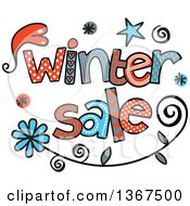 Clipart Of Colorful Sketched Winter Sale Word Art Royalty Free Vector Illustration by Prawny