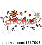 Clipart Of Colorful Sketched Chocolate Word Art Royalty Free Vector Illustration by Prawny