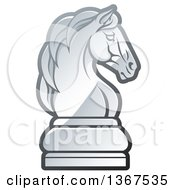 Clipart Of A Gradient Chess Knight Piece Royalty Free Vector Illustration