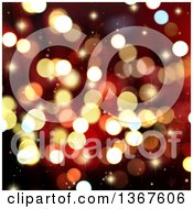 Clipart Of A Christmas Background Of Stars And Bokeh Flares Royalty Free Illustration
