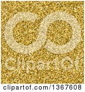 Clipart Of A Gold Pixelated Glitter Background Royalty Free Vector Illustration