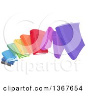 Clipart Of An Arch Of Rainbow Colored Books Royalty Free Vector Illustration