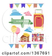 Clipart Of Travel Party Design Elements Royalty Free Vector Illustration by BNP Design Studio