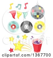 Clipart Of Disco Music Design Elements Royalty Free Vector Illustration