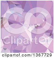 Low Poly Abstract Geometric Background In Electric Lavender