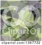 Clipart Of A Low Poly Abstract Geometric Background In Asparagus Green Royalty Free Vector Illustration by patrimonio