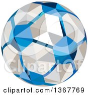 Clipart Of A Geometric Low Poly Style Soccer Ball Royalty Free Vector Illustration