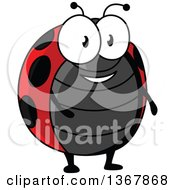 Clipart Of A Cartoon Happy Ladybug Royalty Free Vector Illustration by Vector Tradition SM