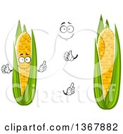 Clipart Of A Cartoon Face Hands And Corn Royalty Free Vector Illustration