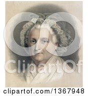 Bust Portrait Of Gray Haired Martha Washington Wearing A Bonnet And Shawl