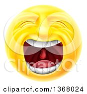 Clipart Of A 3d Yellow Male Smiley Emoji Emoticon Face Screaming Royalty Free Vector Illustration