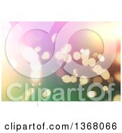 Clipart Of A Christmas Background Of Gradient Colors And Bokeh Flares Royalty Free Illustration