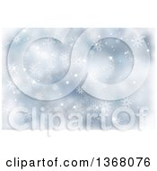 Clipart Of A Blue Christmas Snowflake Background Royalty Free Illustration