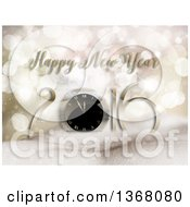 Clipart Of A Happy New Year 2016 Greeting Over Snowy Hills Stars And Bokeh Flares Royalty Free Illustration