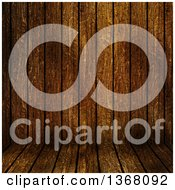 Clipart Of A Dark Grungy Wood Background Royalty Free Illustration
