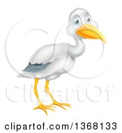 Clipart Of A Happy Stork Bird Royalty Free Vector Illustration
