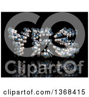Clipart Of A 3d YES Formed With Bubbles On A Black Background Royalty Free Illustration
