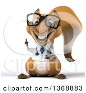Clipart Of A 3d Doctor Or Veterinarian Squirrel With An Idea On A White Background Royalty Free Illustration
