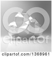 Clipart Of A 3d Silver Geometric Computing Cloud Over Gray Royalty Free Illustration