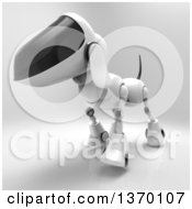 Clipart Of A 3d Robot Dog On A Gray Background Royalty Free Illustration by Julos