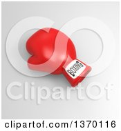 Clipart Of A 3d Red Boxing Glove On A Shaded Background Royalty Free Illustration