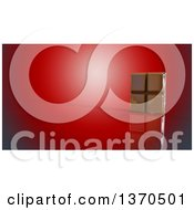 Clipart Of A 3d Chocolate Bar On A Red Background Royalty Free Illustration by Julos