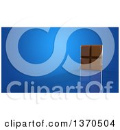 Clipart Of A 3d Chocolate Bar On A Blue Background Royalty Free Illustration by Julos