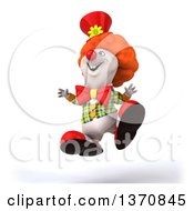 Clipart Of A 3d Polar Bear Bear Clown On A White Background Royalty Free Illustration by Julos