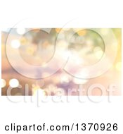Clipart Of A Christmas Background Of Sparkly Bokeh Lights Royalty Free Illustration