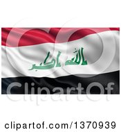 Clipart Of A 3d Rippled Flag Of Iraq Royalty Free Illustration