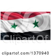 Clipart Of A 3d Rippling Flag Of Syria Royalty Free Illustration