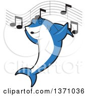 Shark School Mascot Character Singing