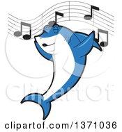 Shark School Mascot Character Singing